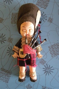 a creepy Scottish doll